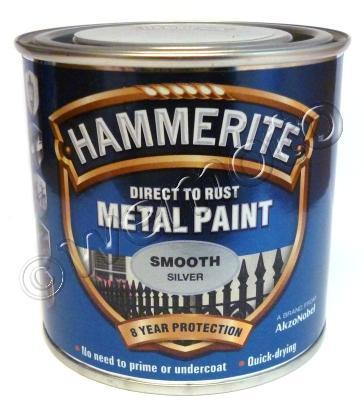 Picture of Hammerite Direct to Rust Metal Paint Smooth Silver 250ml