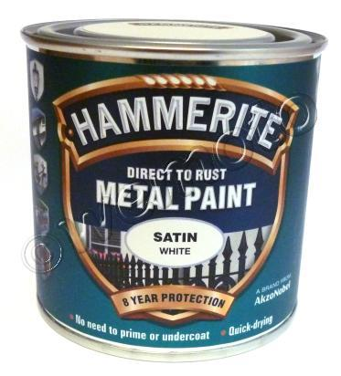 Picture of Hammerite Direct to Rust Metal Paint Satin White 250ml