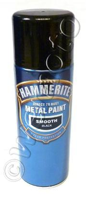 Picture of Hammerite Direct to Rust Metal Paint Smooth Black 400ml Aerosol