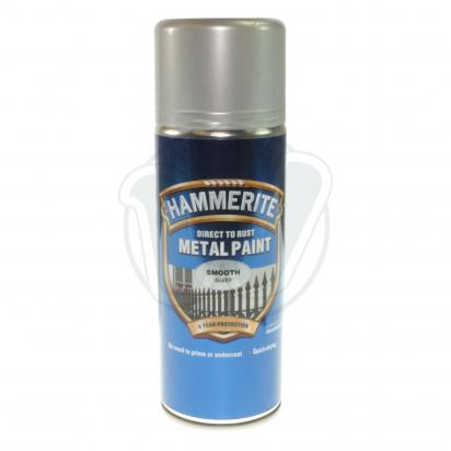 Picture of Hammerite Direct to Rust Metal Paint Smooth SILVER 400ml Aerosol