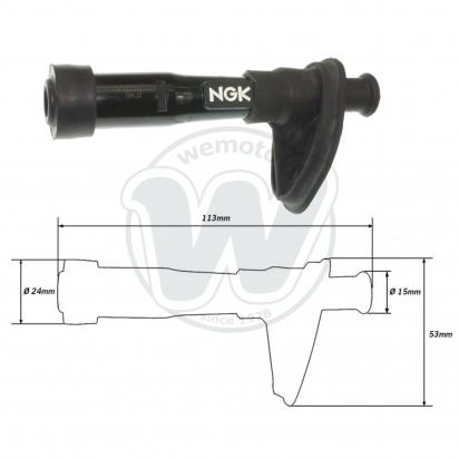 Picture of Spark Plug Cap NGK Straight Black