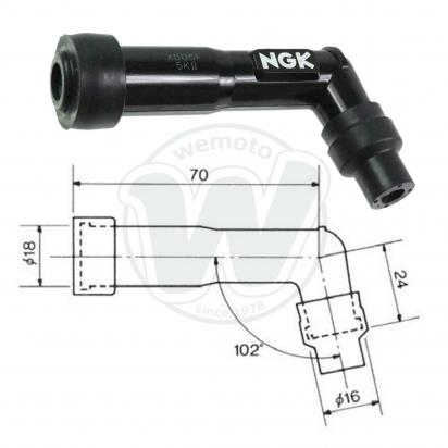 Picture of Spark Plug Cap NGK 102 degree Black
