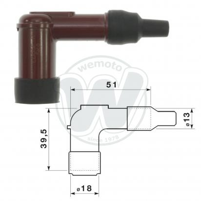 Spark Plug Cap NGK 90 degree Red
