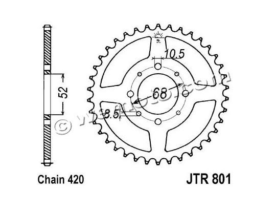 Picture of Suzuki AC50 70 Sprocket Rear - JT