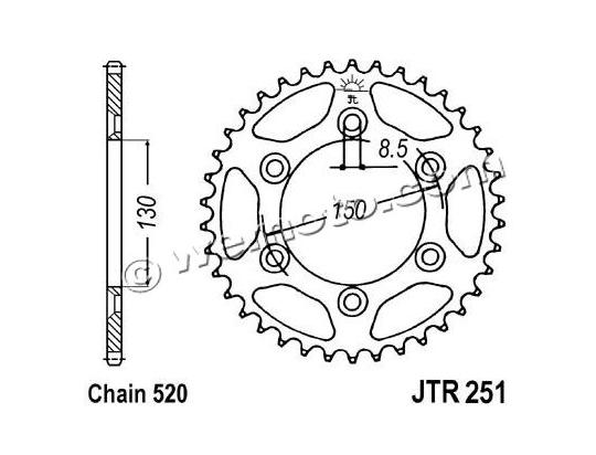 Picture of Sprocket Rear - JT