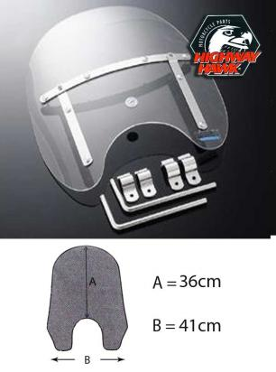 Picture of Windshield Small USA Style Universal mounts on Handlebar