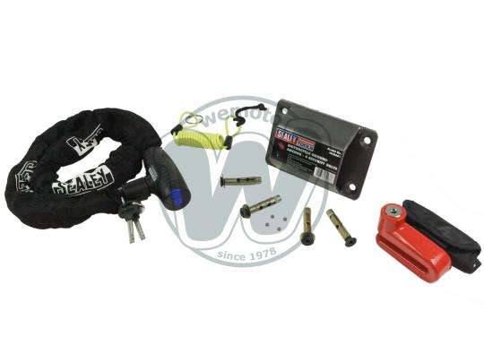 Picture of A Sealey Motorcycle Security Kit