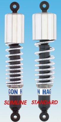 Rear Hagon Classic 1 Shocks - Chrome Springs
