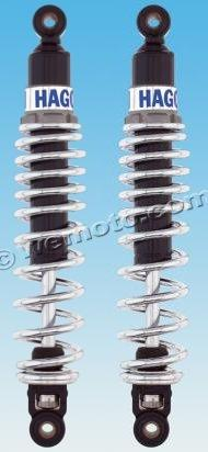 Picture of Rear Hagon 2810 Adjustable Shocks - Chrome Springs