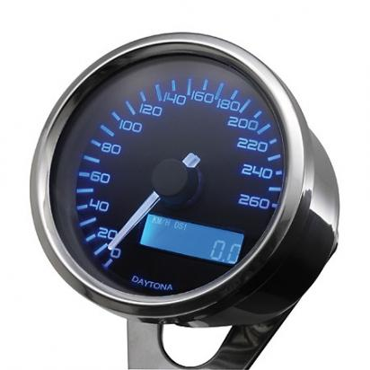Picture of DAYTONA Digital Speedometer VELONA Round 60mm 200km/h