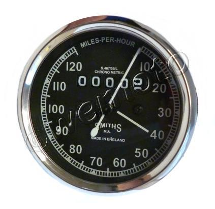 Picture of Smiths Speedometer 0-120 MPH Black - Royal Enfield