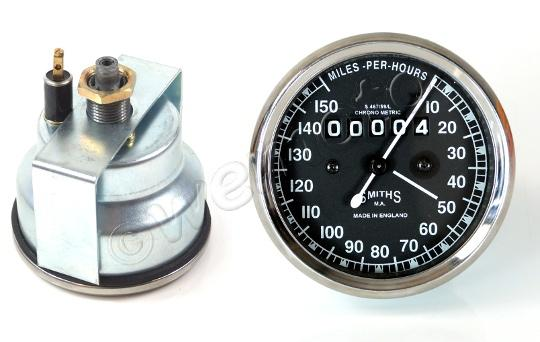 Picture of Smiths Speedometer 0-150 MPH Black - Royal Enfield