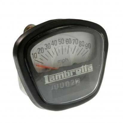 Picture of Speedometer (MPH) Lambretta - Black and White - 90mph max