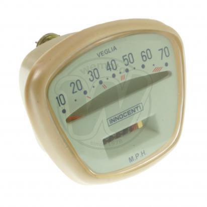 Picture of Speedometer (MPH) Lambretta - Ivory and Aqua - 70mph max