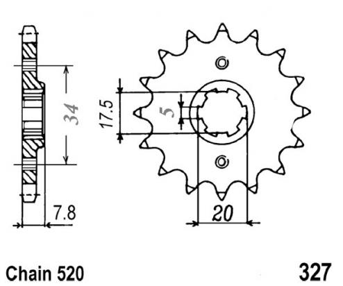 Picture of Sprocket Front Less 1 Tooth - JT (Check Chain Length)