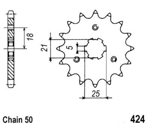 Picture of Suzuki GT 550 A/B 76-77 Sprocket Front Plus 1 Tooth - JT (Check Chain Length)