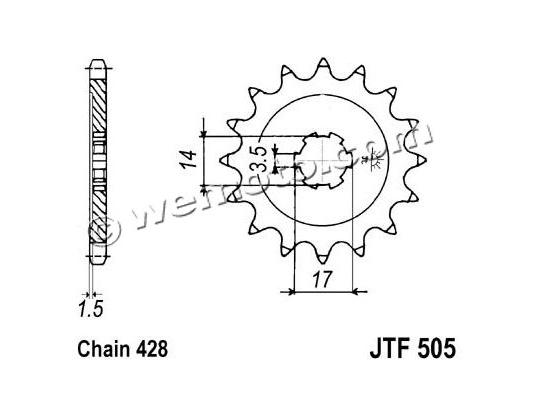 Picture of Sprocket Front - Pattern