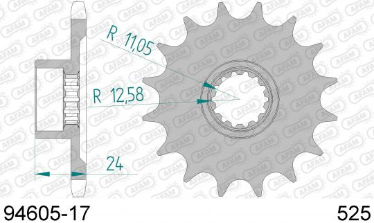 Sprocket Front Plus 1 Tooth - Afam (Check Chain Length)