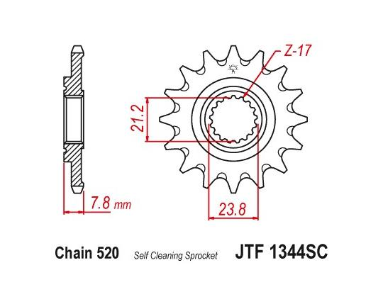 Picture of Sprocket Front - JT