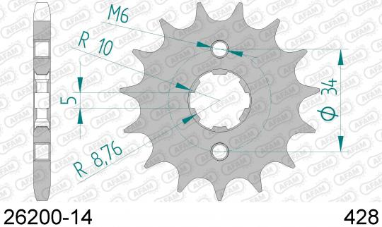 Sprocket Front Less 2 Tooth - Afam (Check Chain Length)