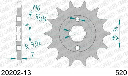 Picture of Sprocket Front Plus 1 Tooth - Afam (Check Chain Length)