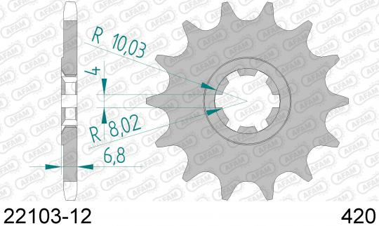 Picture of Suzuki RMX 50 97-99 Sprocket Front - Afam