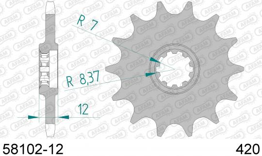 Picture of Roxon Duel SM 50cc 06 Sprocket Front Less 1 Tooth - Afam (Check Chain Length)