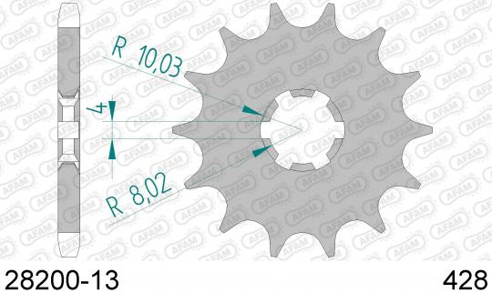 Picture of Sprocket Front Less 1 Tooth - Afam (Check Chain Length)