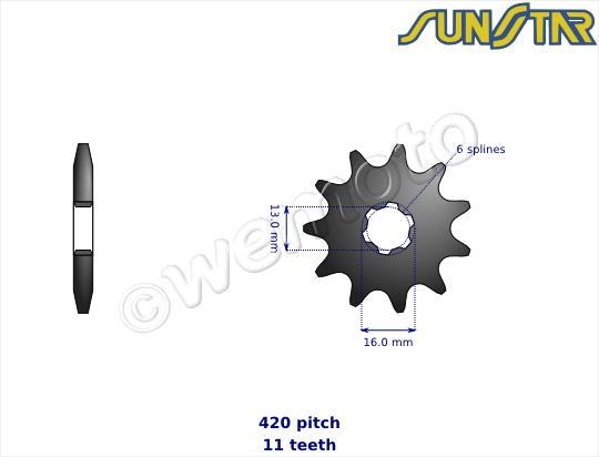 Picture of SunStar Sprocket Front Plus 1 Tooth