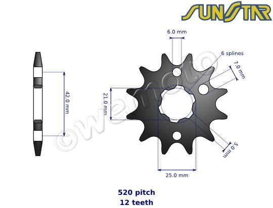 SunStar Sprocket Front Plus 2 Teeth