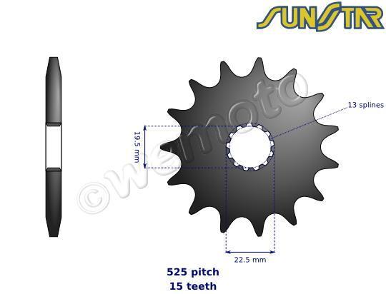 Picture of SunStar Sprocket Front