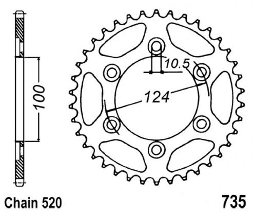 Picture of Sprocket Rear Plus 1 Tooth - JT (Check Chain Length)