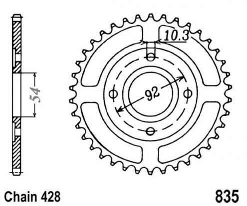 Sprocket Rear Less 1 Tooth - JT (Check Chain Length)