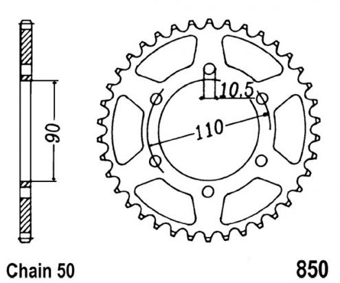 Sprocket Rear Less 2 Teeth - JT (Check Chain Length)