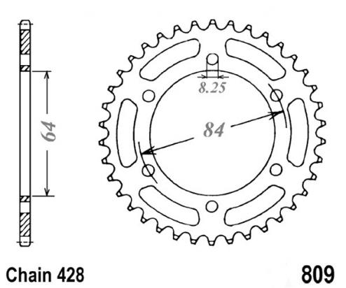 Picture of Sprocket Rear Less 3 Teeth - Pattern (Check Chain Length)