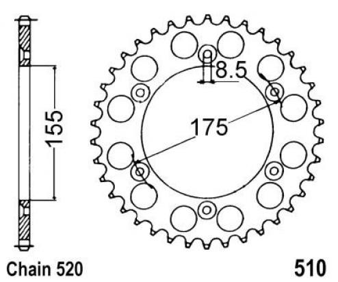Sprocket Rear - Pattern