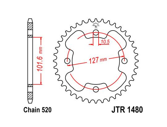 Quadzilla Xlc 500 05 Sprocket Rear
