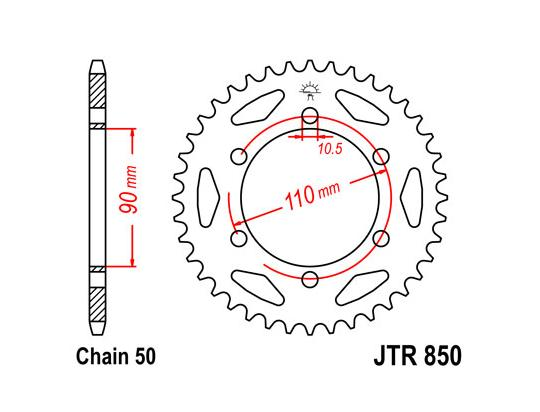 Sprocket Rear Less 3 Teeth - JT (Check Chain Length)