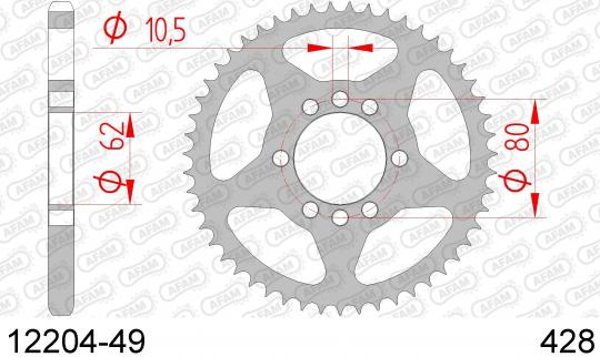 Sprocket Rear - Afam