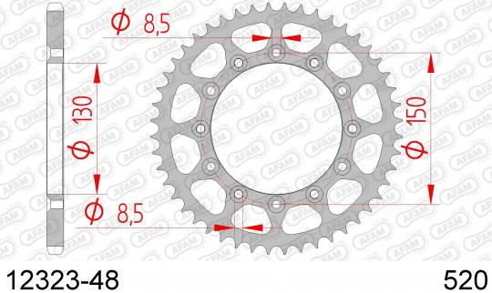 Picture of Sprocket Rear Less 1 Tooth - Afam (Check Chain Length)