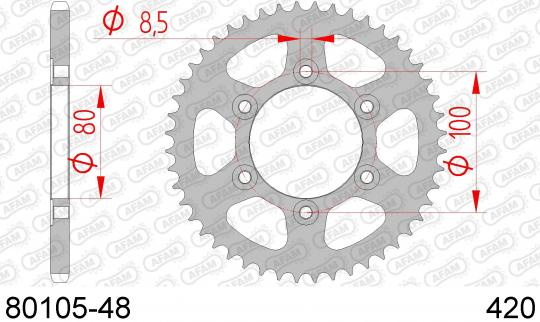 Picture of Sprocket Rear - Afam