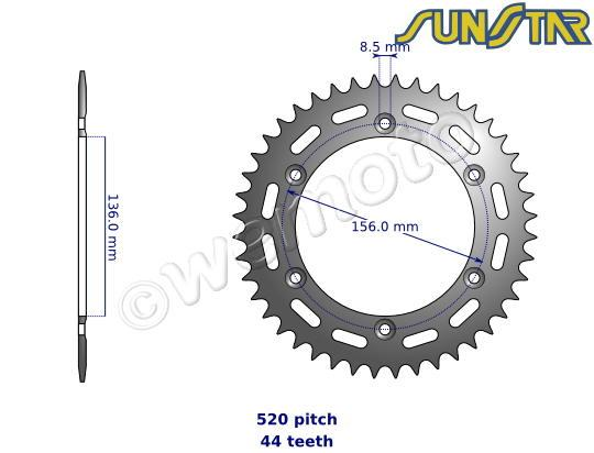 SunStar Sprocket Rear - Steel