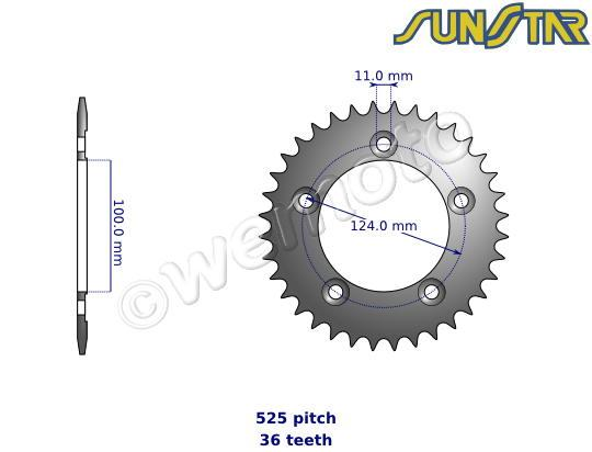 Picture of SunStar Sprocket Rear - Steel