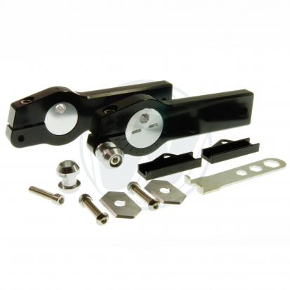 Picture of Honda MSX 125 Grom Swingarm Extenders With Eccentric Chain Adjuster- Black