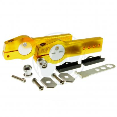 Picture of Honda MSX 125 Grom Swingarm Extenders With Eccentric Chain Adjuster- Gold
