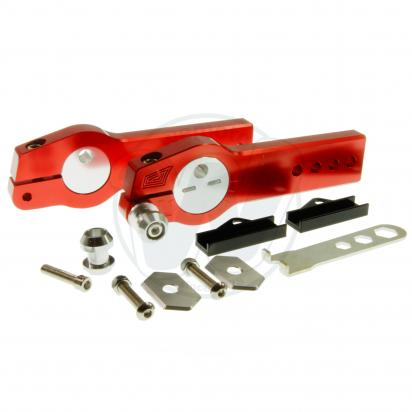 Picture of Honda MSX 125 Grom Swingarm Extenders With Eccentric Chain Adjuster- Red