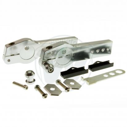 Picture of Honda MSX 125 Grom Swingarm Extenders With Eccentric Chain Adjuster- Silver