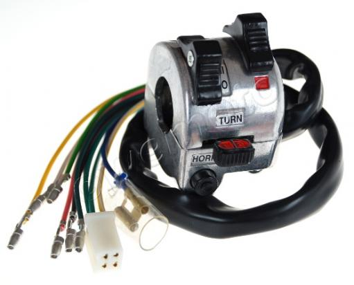 Picture of Handlebar Switch Left Hand Yamaha Style Hi-Low, Indicator, Horn, On-Off, 11 Wires