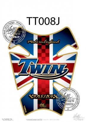 Picture of Tank Pad Triumph Style Bonneville Thruxton Motografix, Approx. Size H=21cm/W=17cm