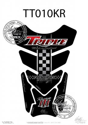 Picture of Tank Pad Triumph Style Speed Street Triple Motografix, Approx. Size H=21cm/W=15cm